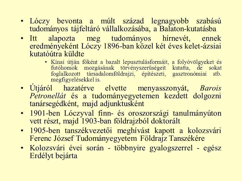 Lóczy bevonta a múlt század legnagyobb szabású tudományos tájfeltáró vállalkozásába, a Balaton-kutatásba