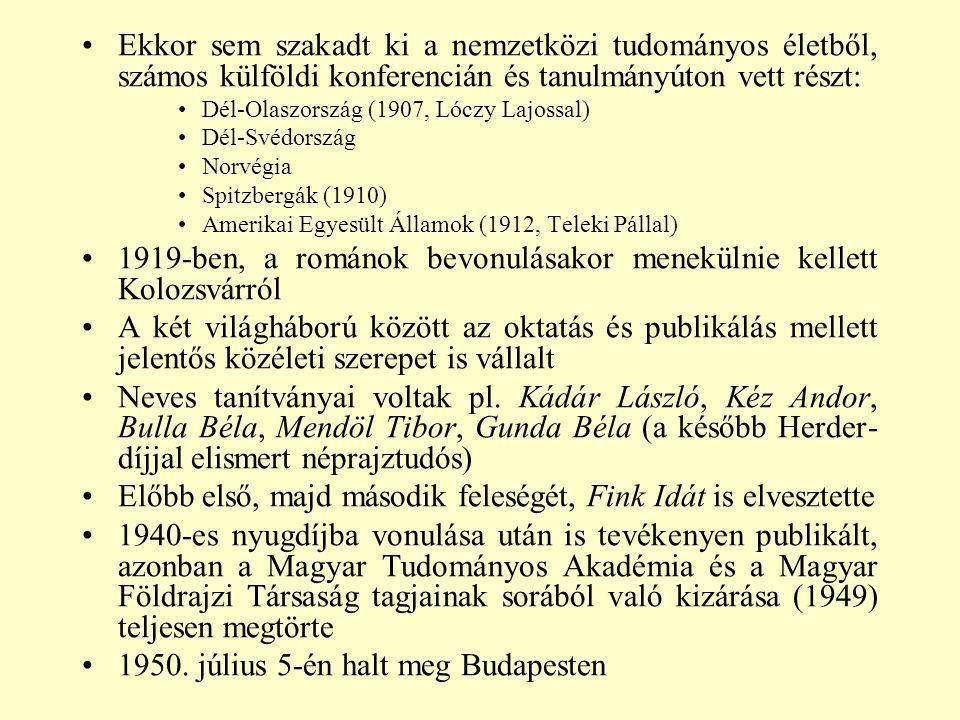 1919-ben, a románok bevonulásakor menekülnie kellett Kolozsvárról