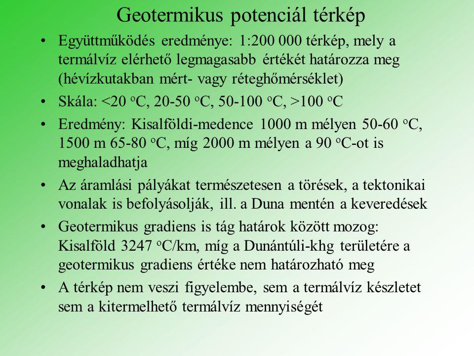 Geotermikus potenciál térkép