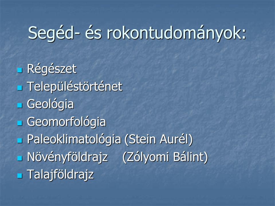 Segéd- és rokontudományok: