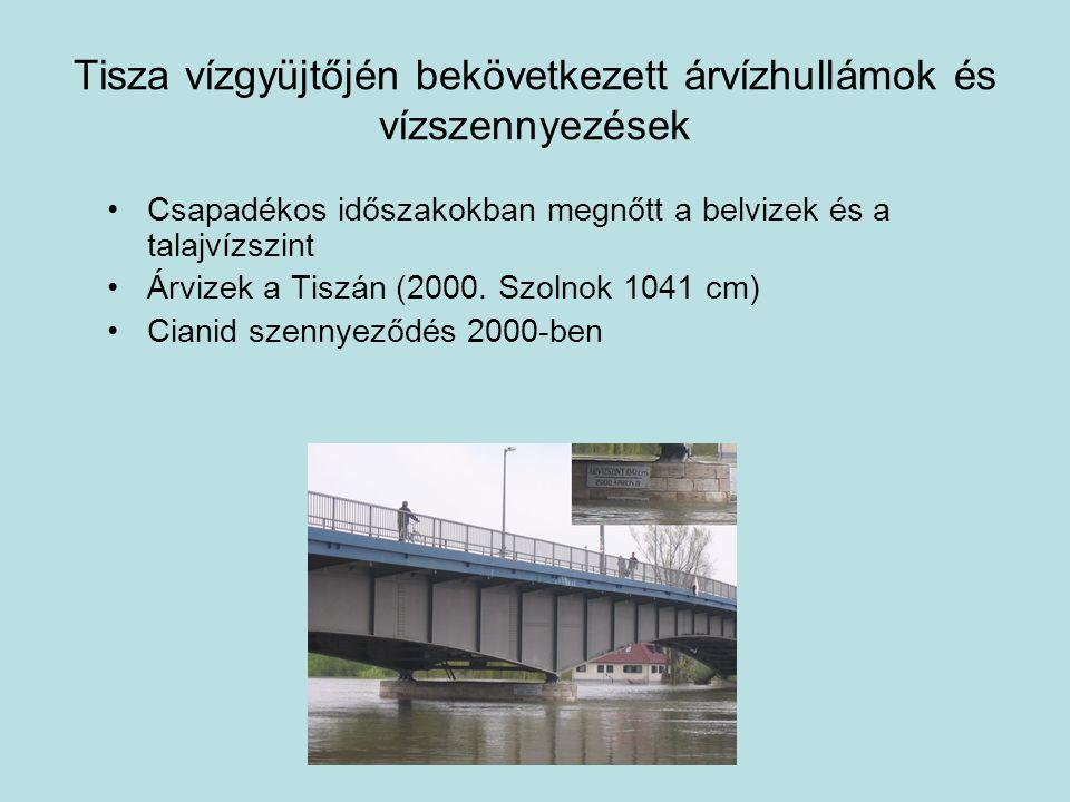 Tisza vízgyüjtőjén bekövetkezett árvízhullámok és vízszennyezések