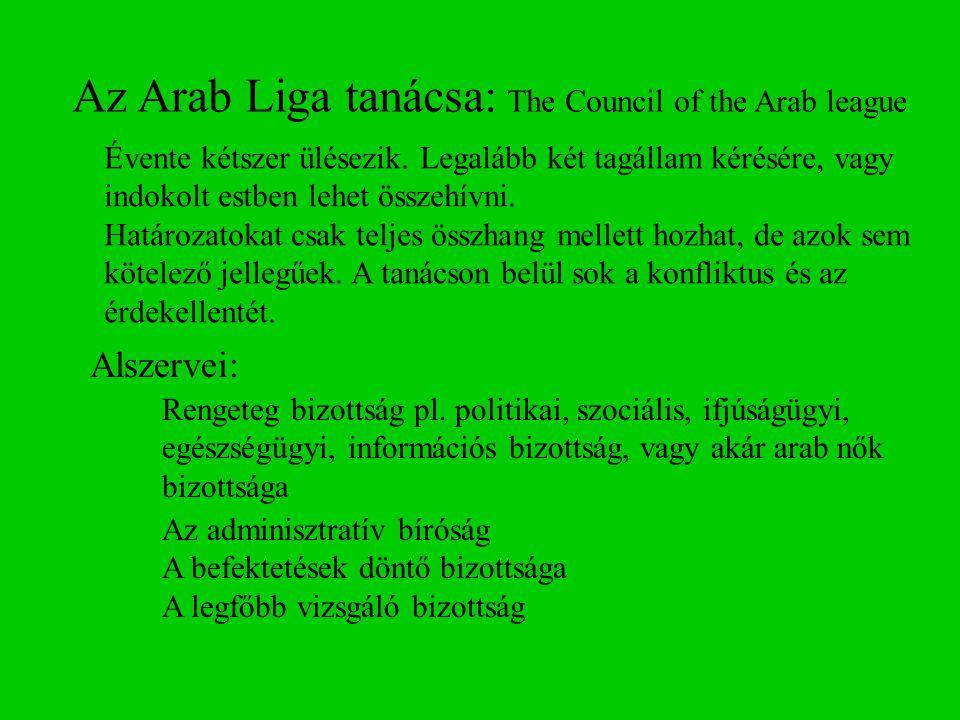 Az Arab Liga tanácsa: The Council of the Arab league