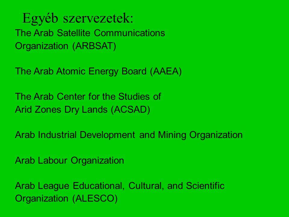 Egyéb szervezetek: The Arab Satellite Communications