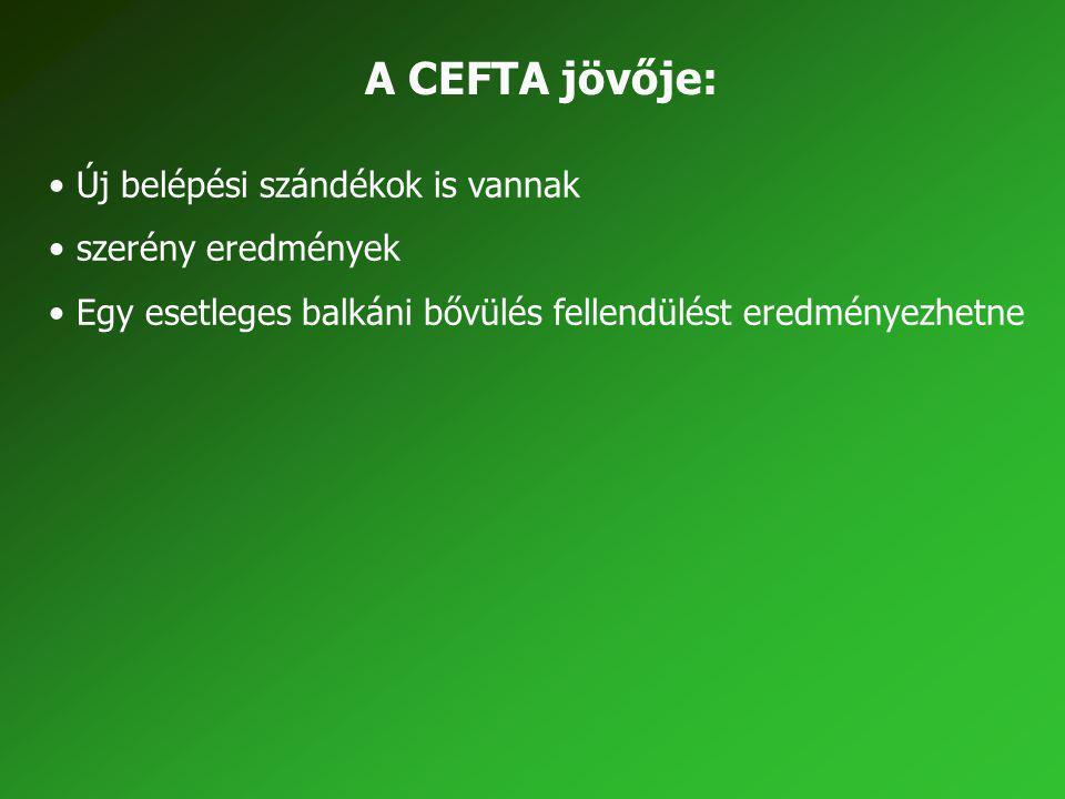 A CEFTA jövője: Új belépési szándékok is vannak szerény eredmények