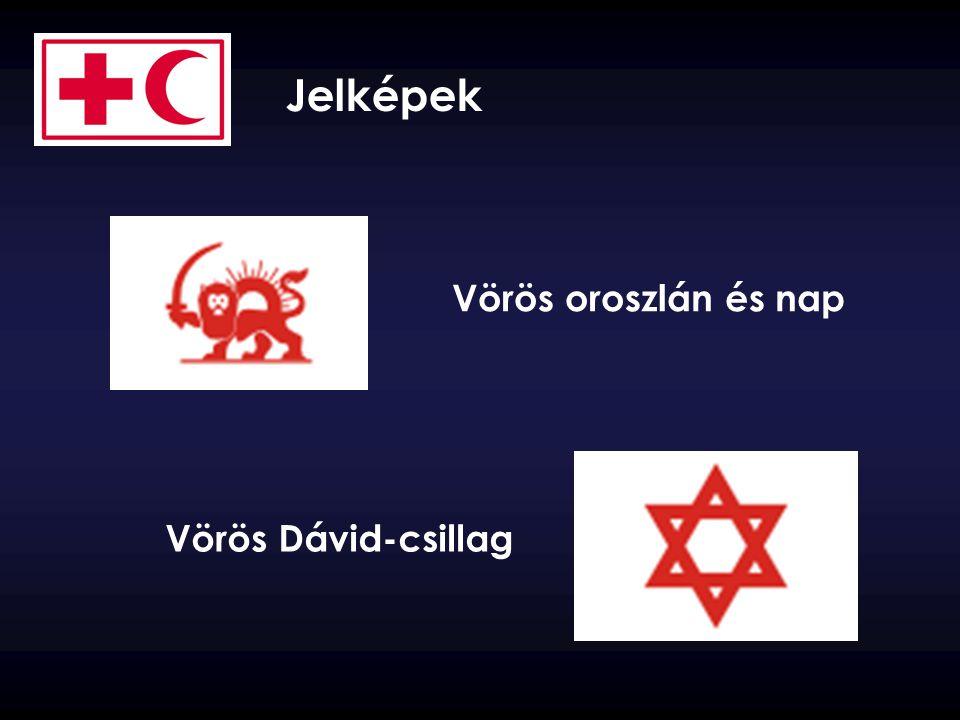 Jelképek Vörös oroszlán és nap Vörös Dávid-csillag