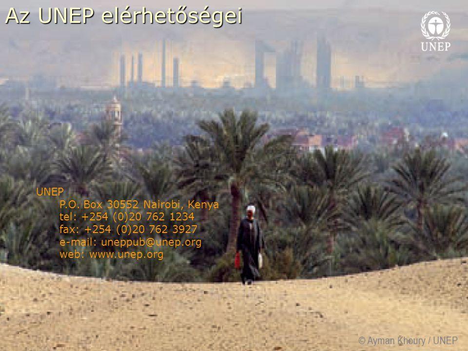 Az UNEP elérhetőségei Az UNEP elérhetőségei UNEP