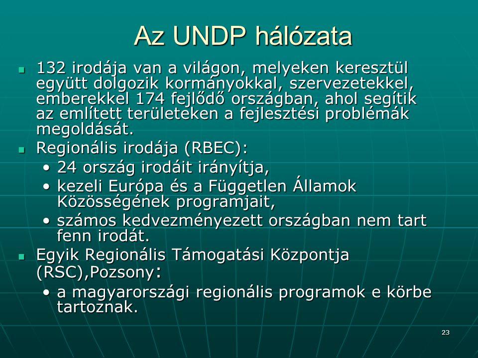 Az UNDP hálózata