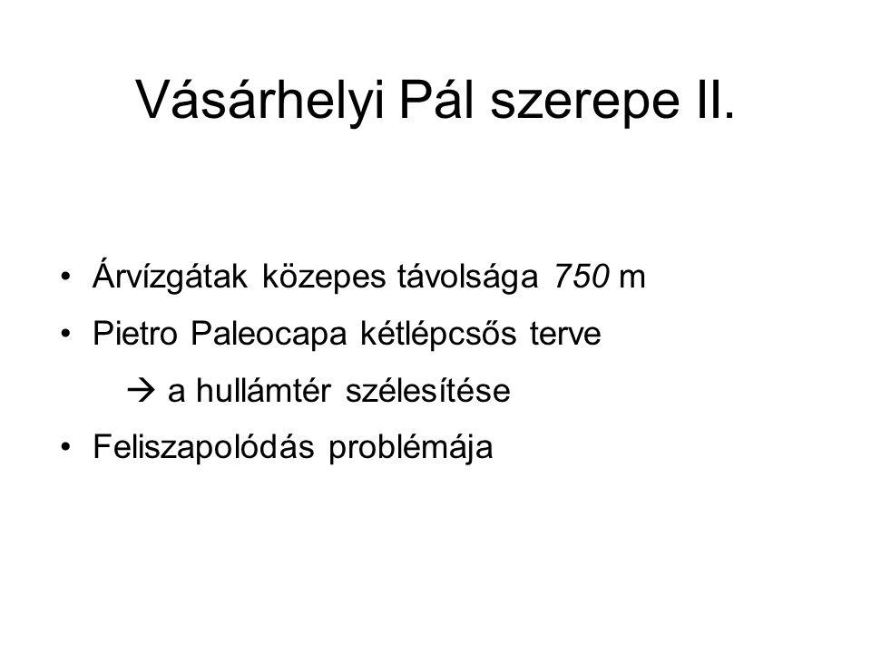 Vásárhelyi Pál szerepe II.