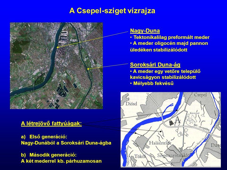 A Csepel-sziget vízrajza