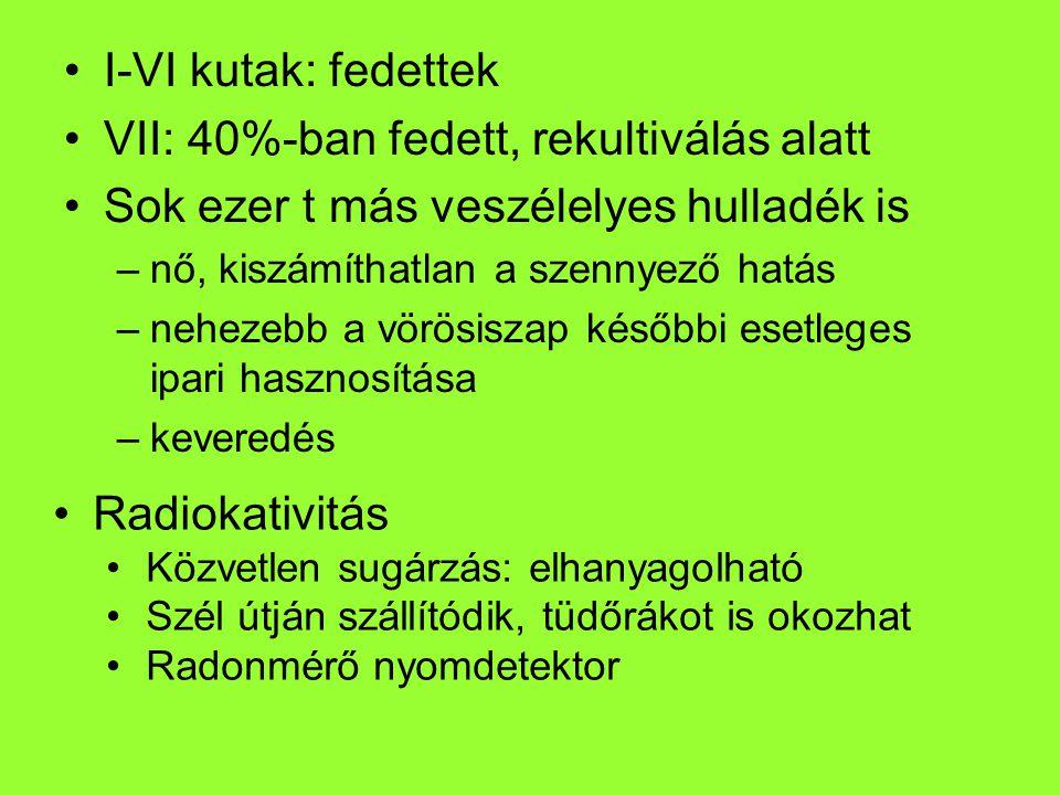 VII: 40%-ban fedett, rekultiválás alatt
