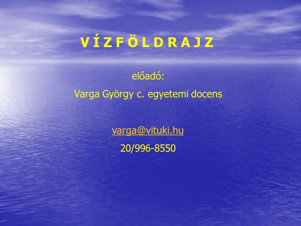 Varga György c. egyetemi docens