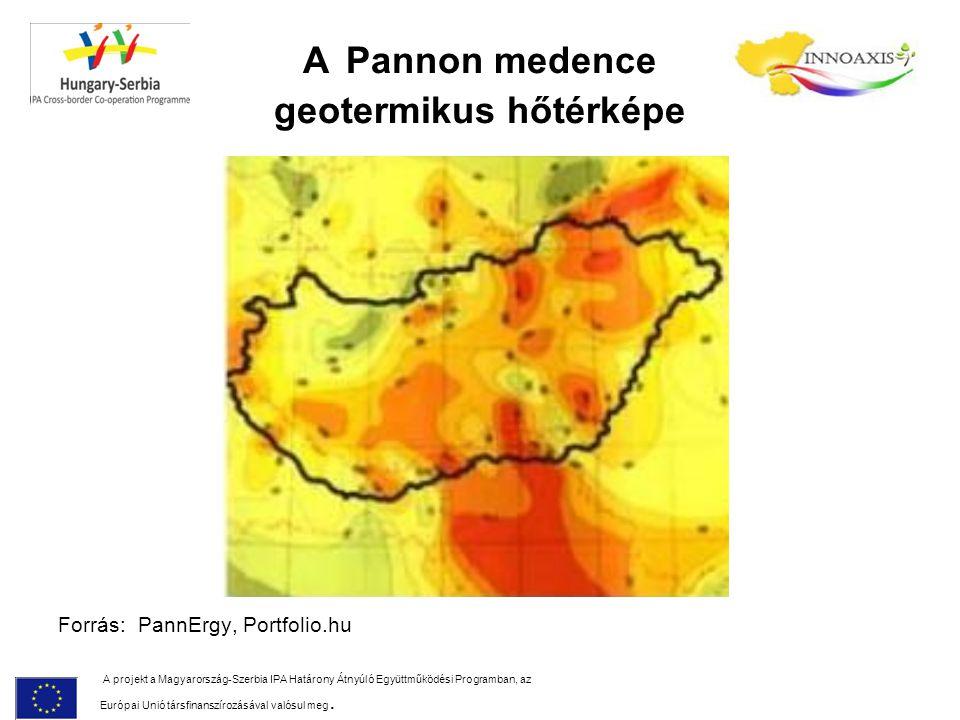 A Pannon medence geotermikus hőtérképe