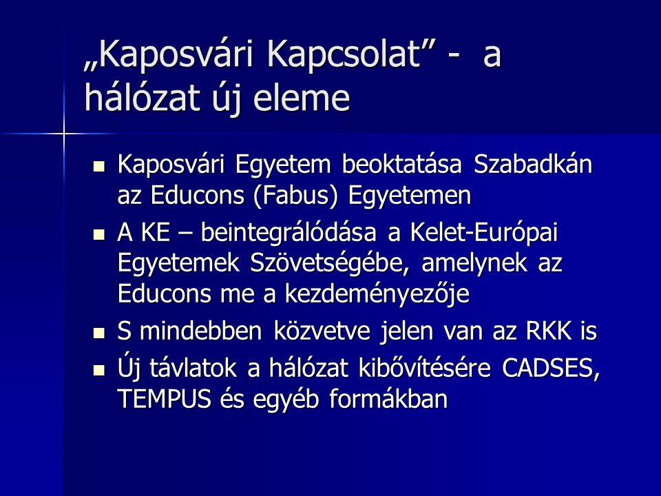 """""""Kaposvári Kapcsolat - a hálózat új eleme"""