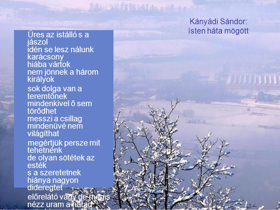 Kányádi Sándor: Isten háta mögött