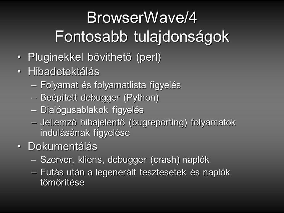 BrowserWave/4 Fontosabb tulajdonságok