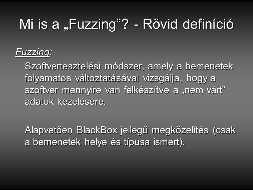 "Mi is a ""Fuzzing - Rövid definíció"