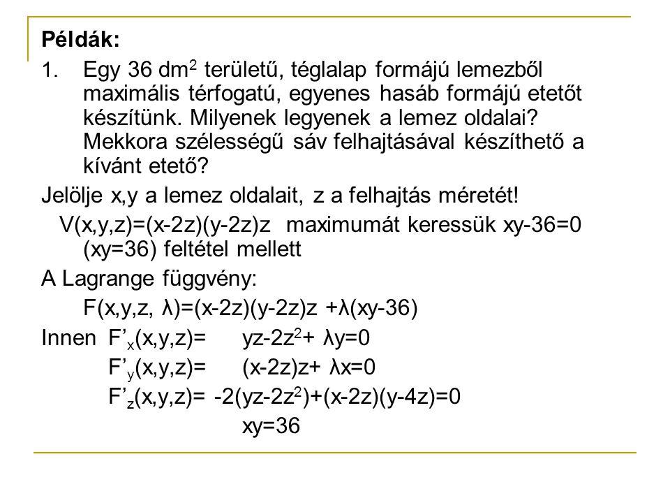 Példák: