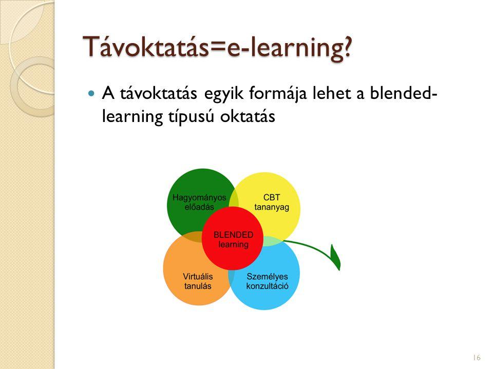 Távoktatás=e-learning