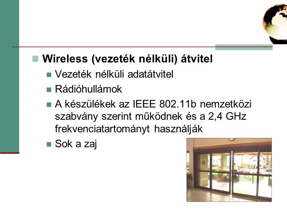 Wireless (vezeték nélküli) átvitel