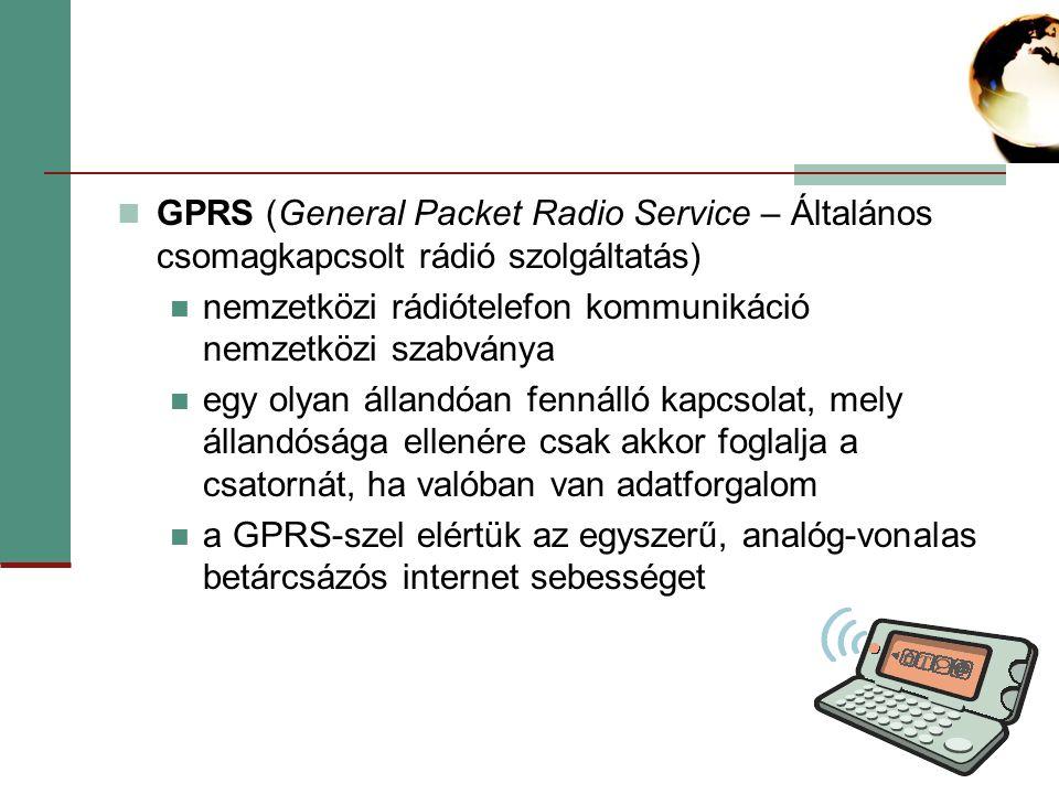 GPRS (General Packet Radio Service – Általános csomagkapcsolt rádió szolgáltatás)