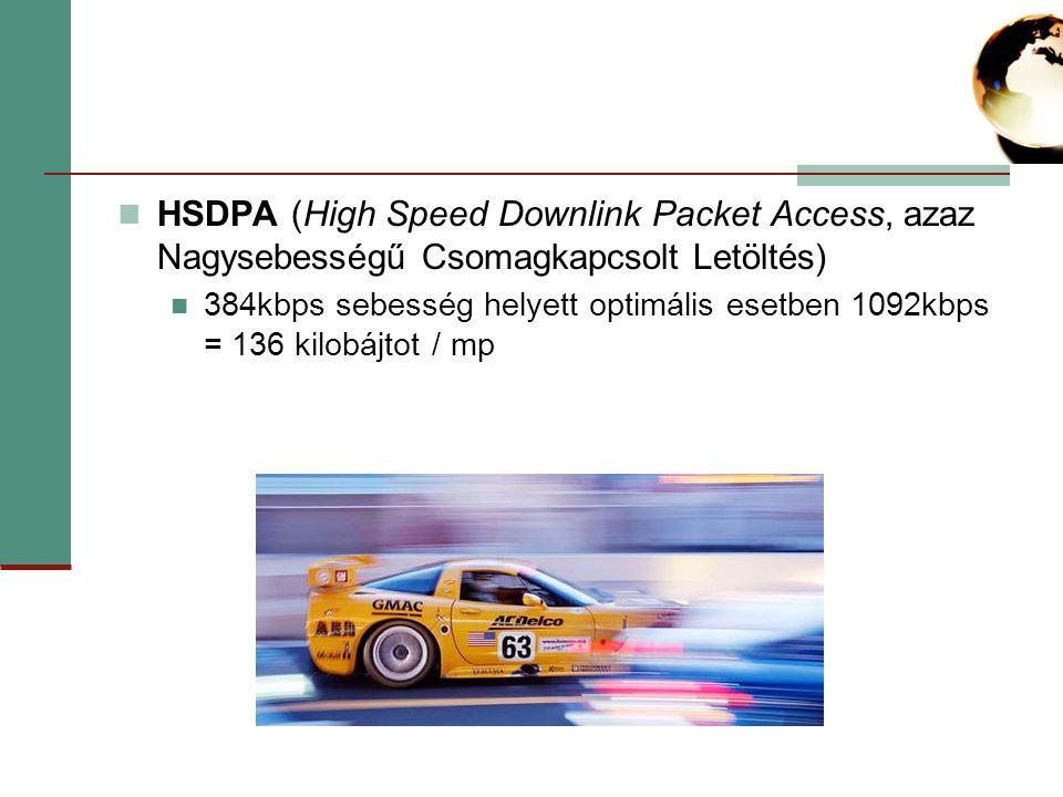 HSDPA (High Speed Downlink Packet Access, azaz Nagysebességű Csomagkapcsolt Letöltés)