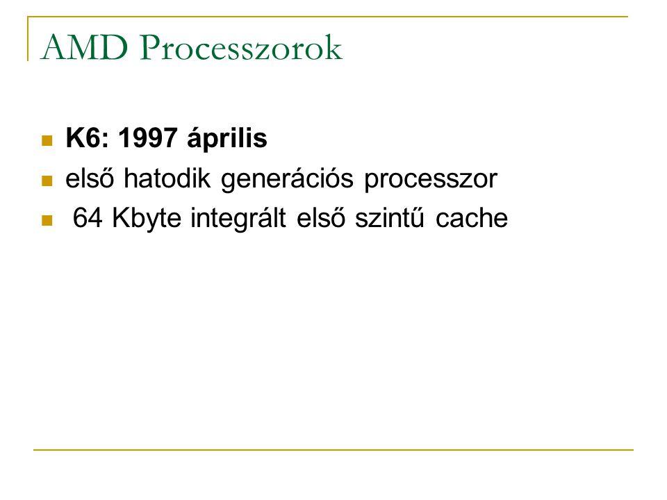 AMD Processzorok K6: 1997 április első hatodik generációs processzor
