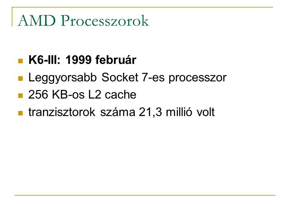 AMD Processzorok K6-III: 1999 február
