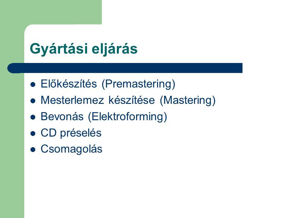 Gyártási eljárás Előkészítés (Premastering)