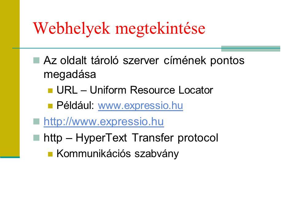 Webhelyek megtekintése