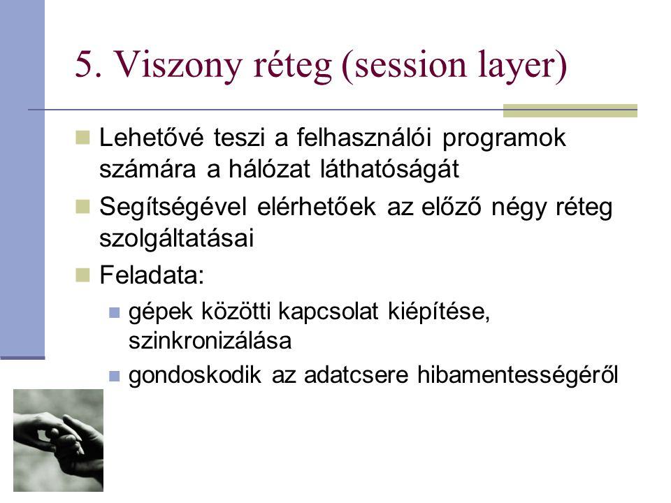 5. Viszony réteg (session layer)