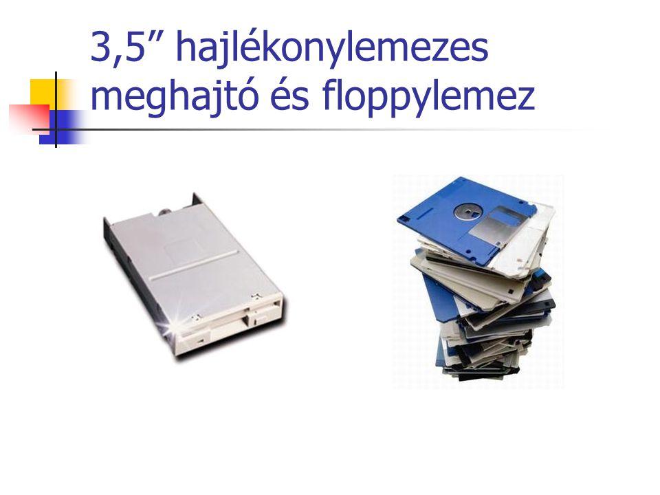 3,5 hajlékonylemezes meghajtó és floppylemez