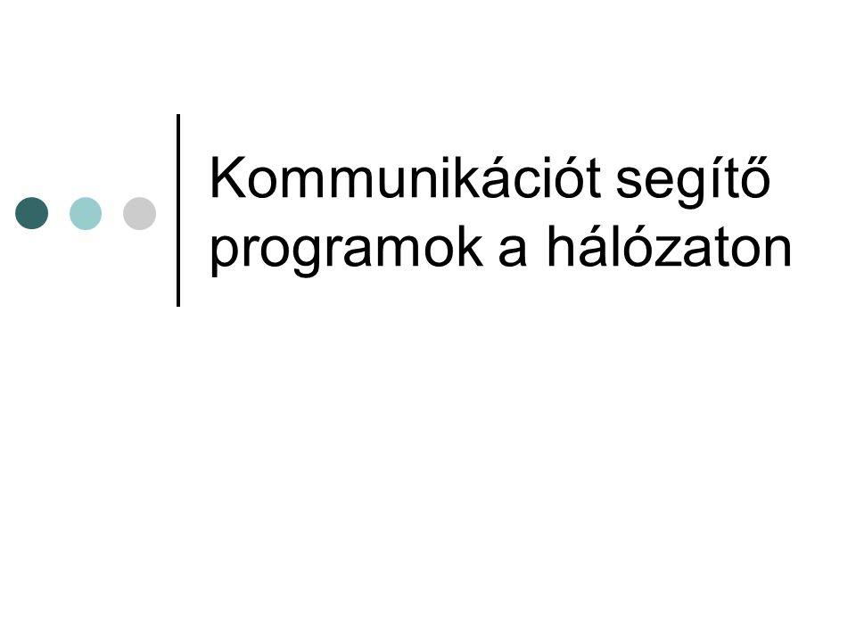 Kommunikációt segítő programok a hálózaton