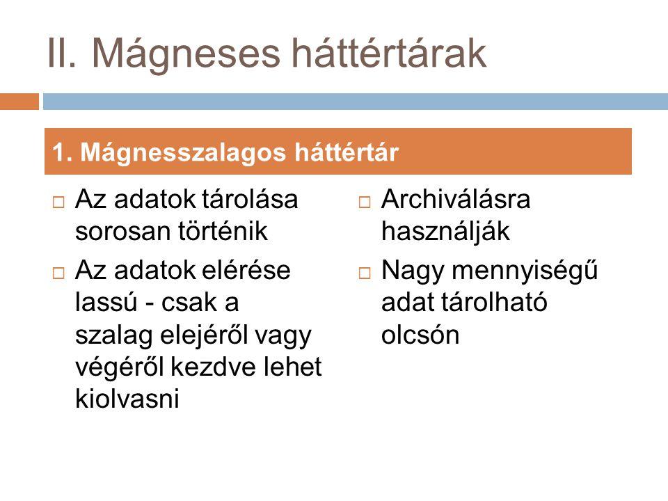 II. Mágneses háttértárak