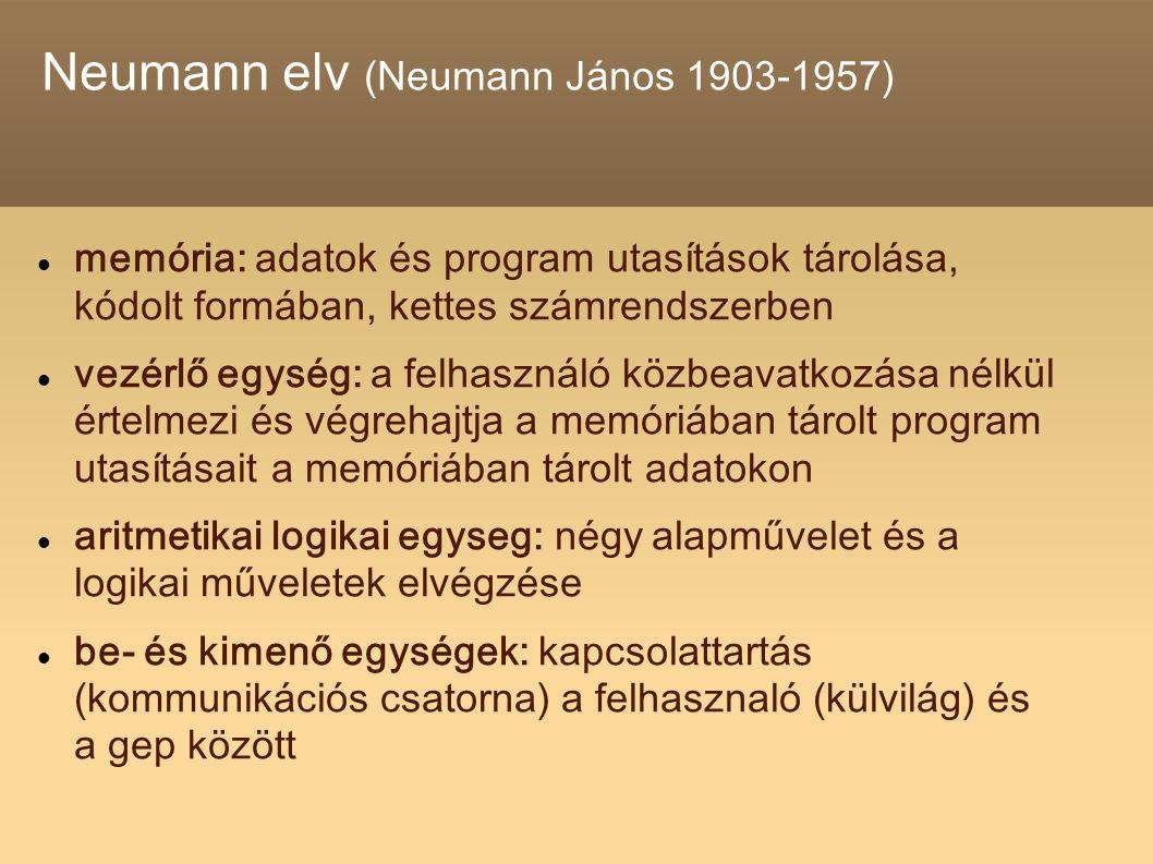 Neumann elv (Neumann János 1903-1957)