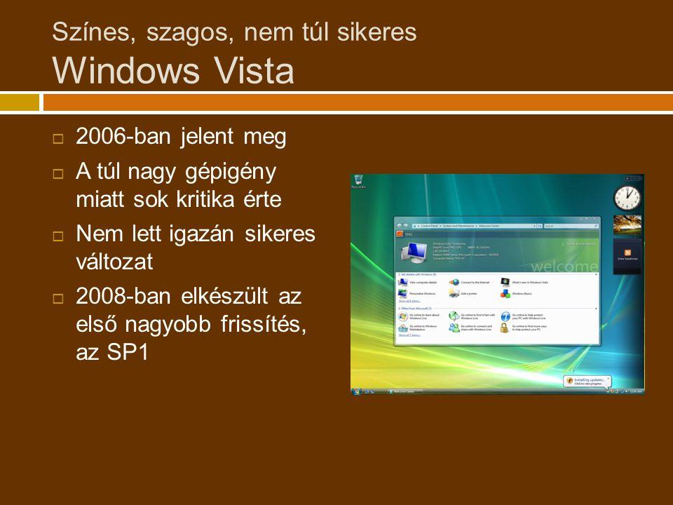 Színes, szagos, nem túl sikeres Windows Vista
