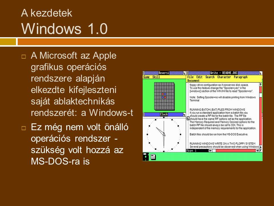 A kezdetek Windows 1.0