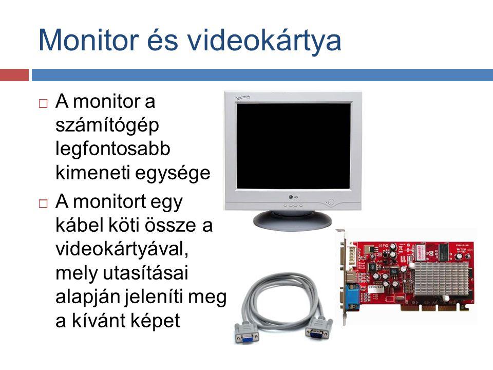 Monitor és videokártya
