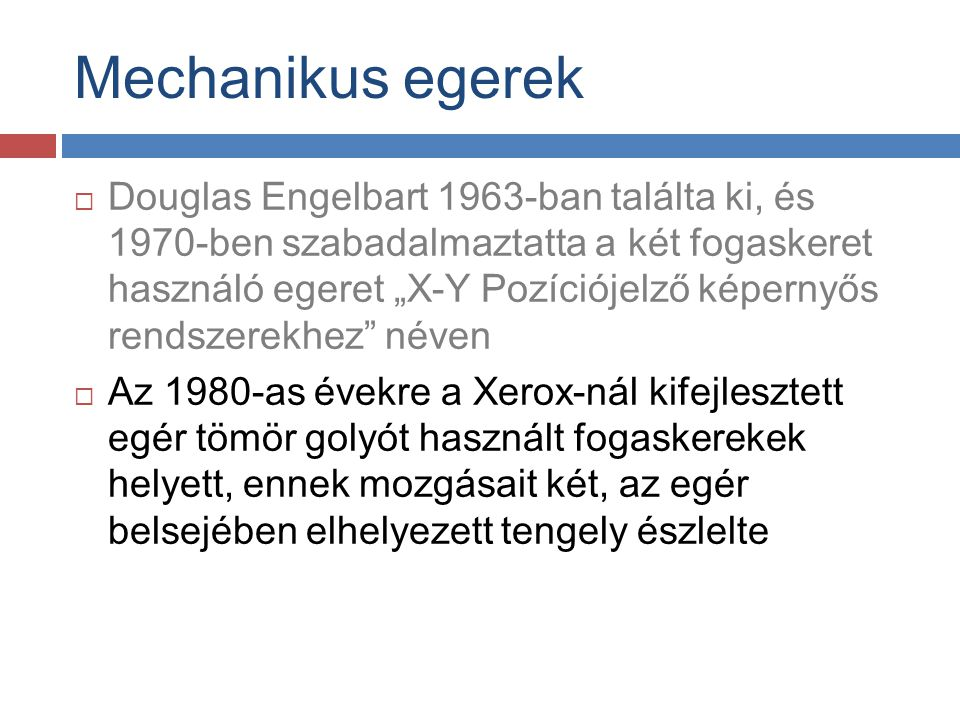 Mechanikus egerek