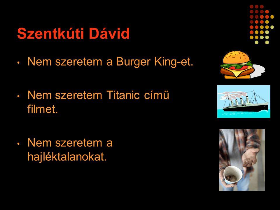 Szentkúti Dávid Nem szeretem a Burger King-et.