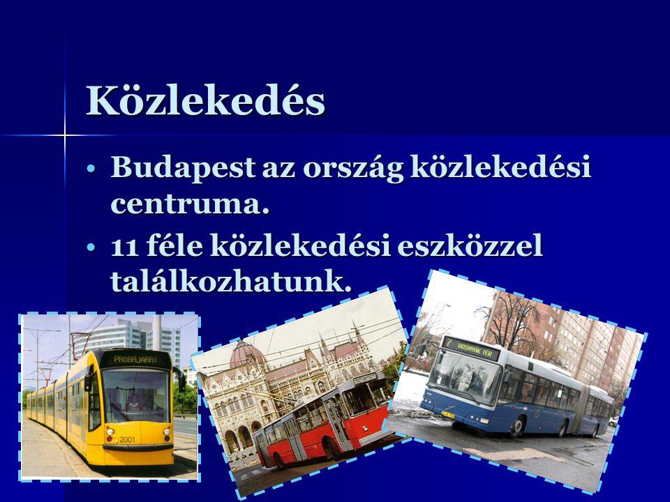 Közlekedés Budapest az ország közlekedési centruma.