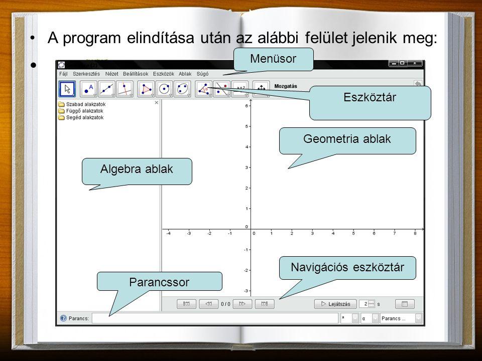 A program elindítása után az alábbi felület jelenik meg: