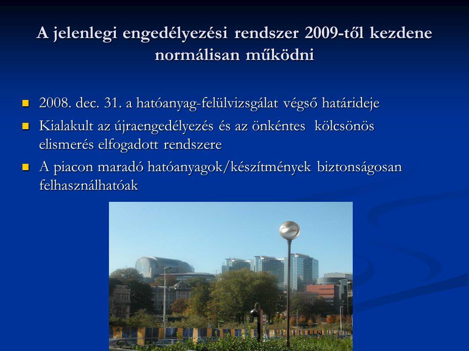 A jelenlegi engedélyezési rendszer 2009-től kezdene normálisan működni