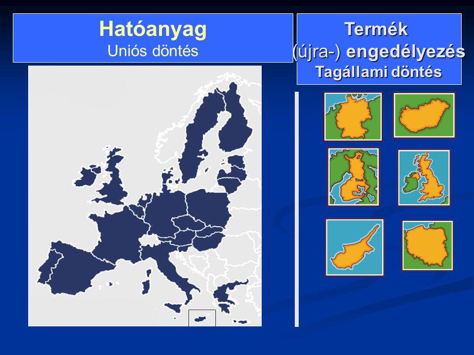 Hatóanyag Uniós döntés Termék (újra-) engedélyezés Tagállami döntés