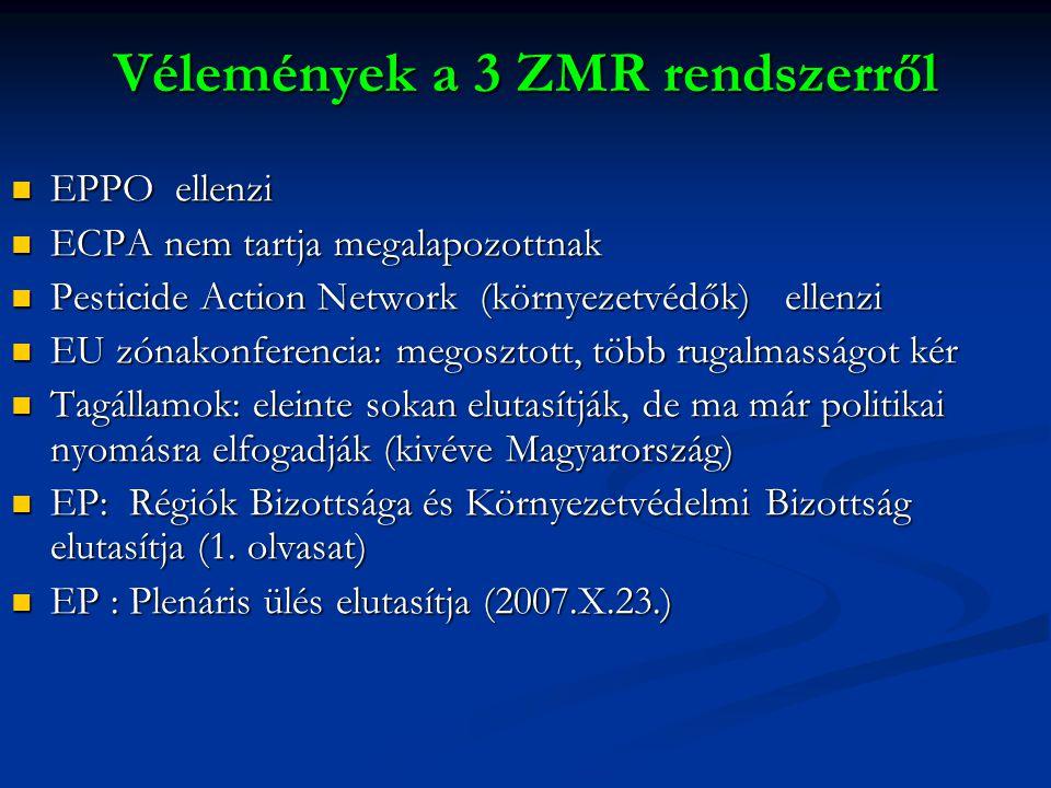 Vélemények a 3 ZMR rendszerről