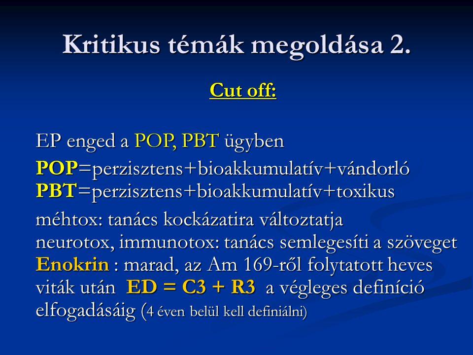 Kritikus témák megoldása 2.