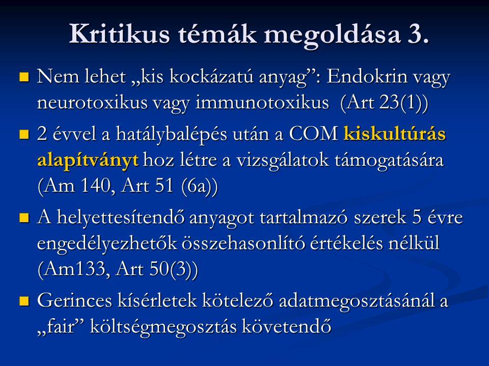 Kritikus témák megoldása 3.
