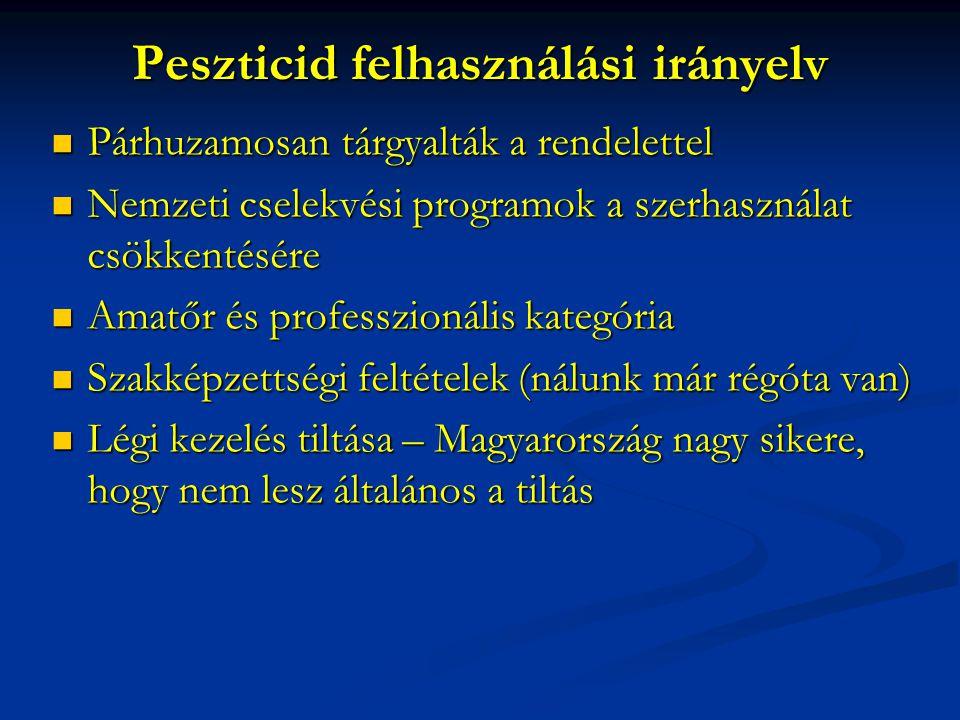 Peszticid felhasználási irányelv
