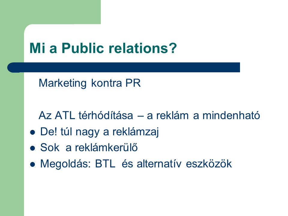Mi a Public relations Marketing kontra PR