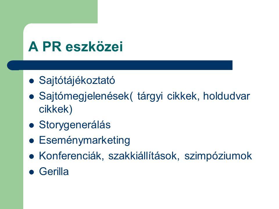 A PR eszközei Sajtótájékoztató