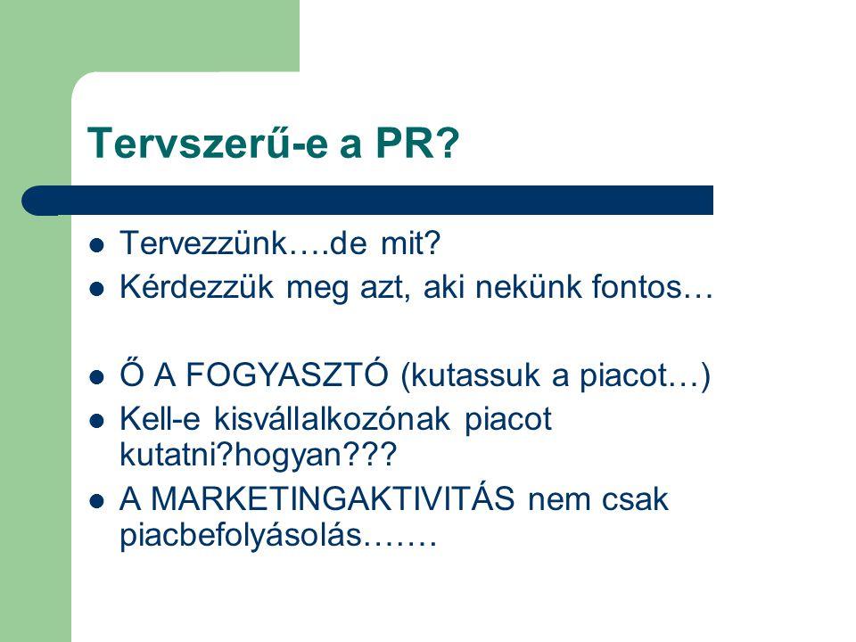 Tervszerű-e a PR Tervezzünk….de mit